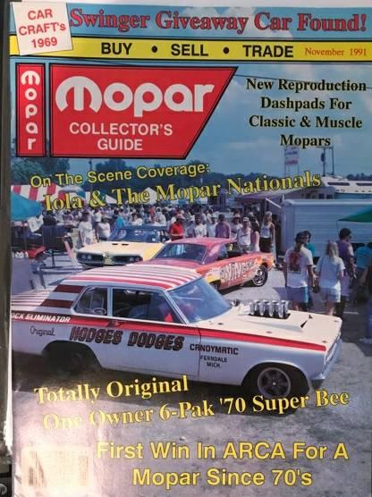 1969 Dodge Dart Swinger Car Craft Project For Sale in Palmetto, FL